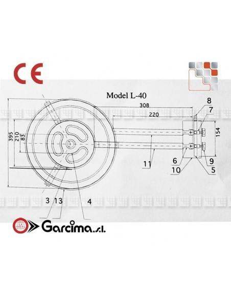 Bruleur Paella L40 +gas Garcima G05-76040 GARCIMA® LaIdeal Bruleurs Gaz Paella Garcima