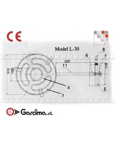Bruleur Paella L30 +gas Garcima G05-76030 GARCIMA® LaIdeal Bruleurs Gaz Paella Garcima