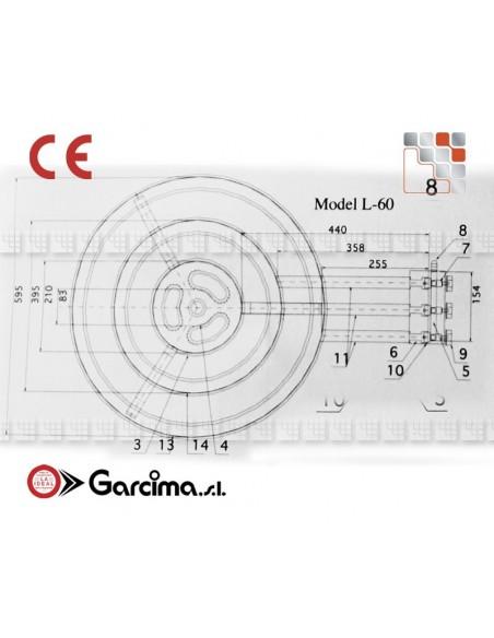 Bruleur Paella L60 +gas Garcima G05-76060 GARCIMA® LaIdeal Bruleurs Gaz Paella Garcima
