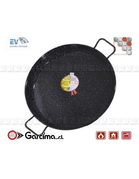 Paella pan D80 Emaille Garcima 20280 GARCIMA® LaIdeal Enamelled PataNegra Paella Pan