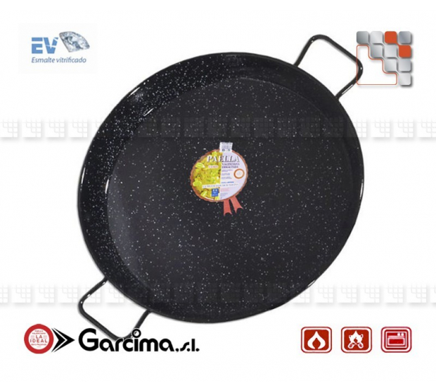 Plat Paella D40 Emaille Garcima G05-20240 GARCIMA® LaIdeal Plat Paella Emaillé PataNegra
