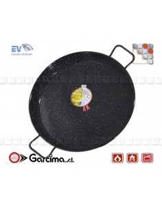Flat Paella D50 Emaille Garcima 20250 GARCIMA® LaIdeal Enamelled PataNegra Paella Pan