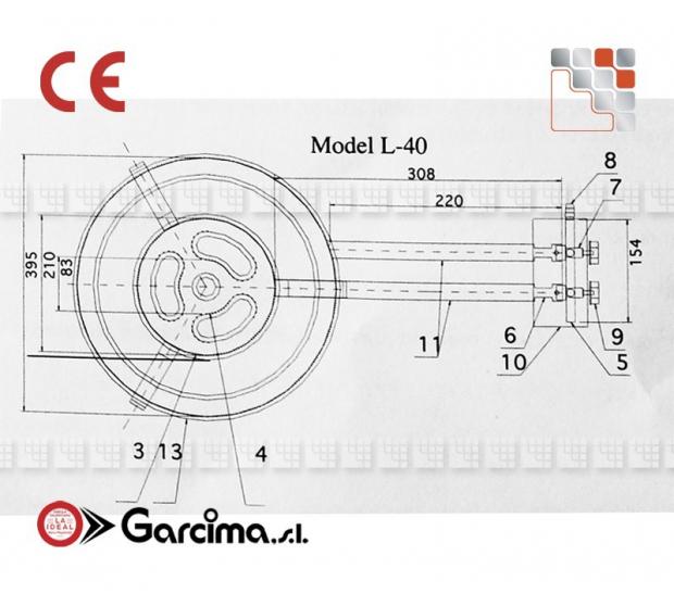 Bruleur Paella L40 Pro CTE Garcima G05-76340 GARCIMA® LaIdeal Bruleurs Gaz Paella Garcima