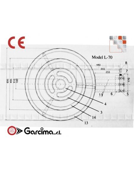 Bruleur Paella L70 Pro CTE Garcima G05-76370 GARCIMA® LaIdeal Bruleurs Gaz Paella Garcima