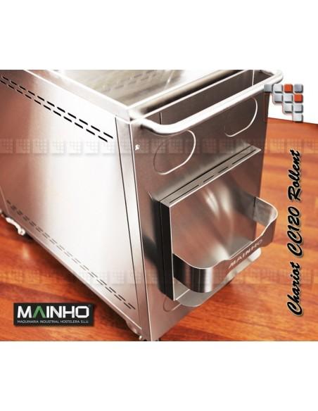 Rollent Trolley Plancha CNE-80 Mainho M04-CNE80 MAINHO® Plancha MAINHO NOVO CROM SNACK