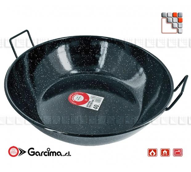 Poele Creuse Emaille D40 Garcima G05-20340 GARCIMA® LaIdeal Poeles, Sartenes, Cazuelas y Tapas Garcima