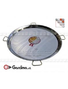 Paella dish stainless steel 18 8 D90 Garcima G05-70090 GARCIMA® LaIdeal Stainless steel Paella Pans Antiadhésive HQ Garcima