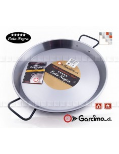 Plat Paella D38 PataNegra Induction Garcima G05-85138 GARCIMA® LaIdeal Plat Paella Poli PataNegra Garcima