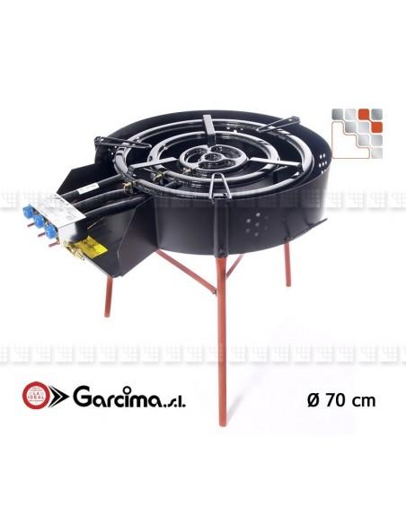 Trepieds Multifonctions 50 Garcima G05-41049  Bruleurs Gaz Paella Garcima
