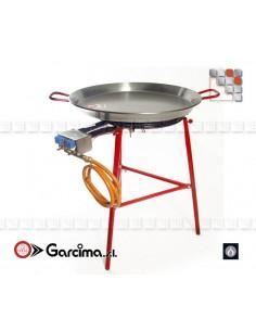 Kit Paella Ibiza 70L Pata Negra G05-K85070L GARCIMA® LaIdeal Kit dish Paella Garcima