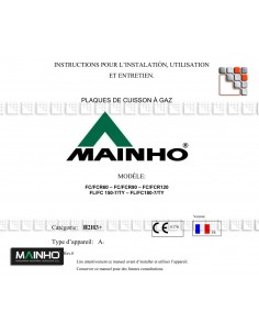 Manuel d'utilisation Full-Chrom Electrique 799MHNTFCE MAINHO® Instruction Manual Guides