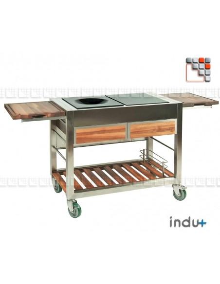 TomBoy Duo Walnut I24-130030001 INDU+® nv/sa Summer kitchen INDU+