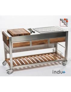 TomBoy Ultimo Unico Walnut I24-130030004 INDU+® nv/sa Summer kitchen INDU+