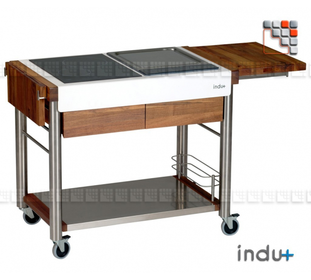 Chariot serveboy duo trolley by indu for Meuble cuisine acier