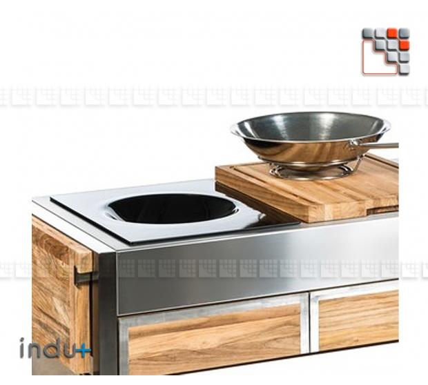Wok 400 by Undue+ I24-132050000 INDU+® nv/sa Summer kitchen INDU+