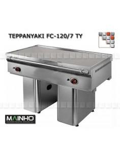 Teppanyaki FCE-120/7 TY 400V UNICROM MAINHO M04-FCE120/7TY MAINHO® Fry-Top Teppanyaki 70 UNICROM UNISNACK