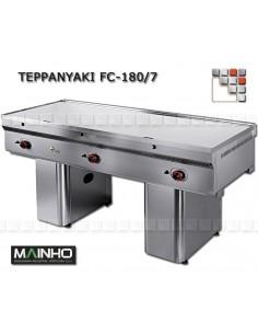 Teppanyaki FCE-180 7 TY 400V Mainho FCE-180/7TY MAINHO® FryTops MAINHO EURO-CROM SNACK