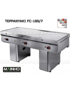 Teppanyaki FCE-180 7 TY 400V MAINHO M04-FCE180/7TY MAINHO® Fry-Tops MAINHO EURO-CROM Snack