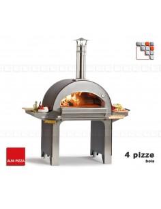 Four 4 PIZZE a bois Alfa Pizza 402FORPIZZE-AP ALFA PIZZA® Fours mobiles ALFA PIZZA
