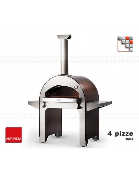 Four 4 PIZZE a bois ALFAPIZZA A32-FORPIZZEAP ALFA PIZZA® Fours mobiles ALFA PIZZA