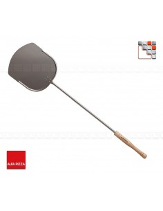 Shovel has Stainless steel Pizza 90 Wide Alfa Pizza 502AFISETP90 ALFA PIZZA® Ustensiles Spécial Pizza