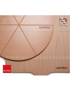 Plateau a Decouper Hetre Alfa Pizza 502PLTPIZ Alfa-Pizza Accessoires Ustensiles Special Pizza