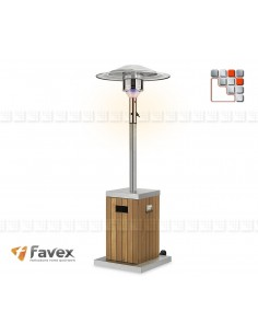 Beach Umbrella Heating Cozy Wood Stainless Steel F34-8530142 FAVEX Outdoor Patio Heater