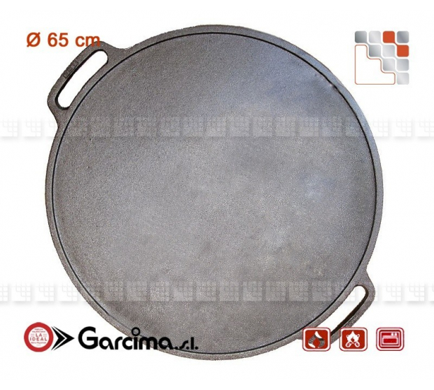 Plancha Round D65 Emaillee Hierro Guison G05-12065 GUISON Garcima Mobil Plancha to Fix