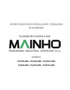 Instructions Installation Utilisation Entretien PC-PL M99-NPCPL MAINHO® Instruction Manual Guides