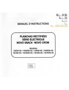 Manual Instructions NOVO-SNACK NOVO-CROM  799MHN-NSEM-NCEM MAINHO® Instruction Manual Guides