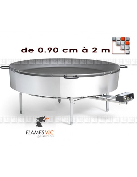 Burner for Industrial O-900 60Kw Flames VLC F08-O900 FLAMES VLC® Burner Gas Flames VLC
