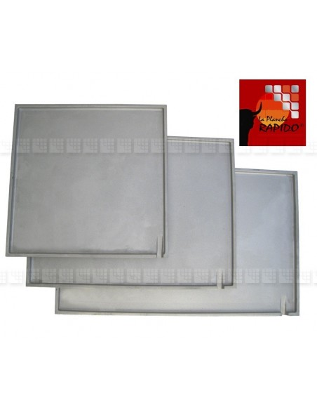 Plancha Rapido V en fonte aluminium AS7G