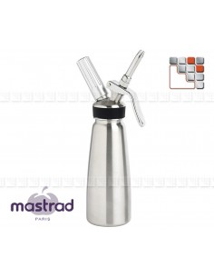 Siphon Pro 1L + 10 Cartouches MASTRAD M12-SI1L Mastrad® Ustensiles de Cuisine