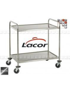 Chariot Desserte Plancha US95 404PXACR95 Lacor® Dessertes & Chariots Bois Inox