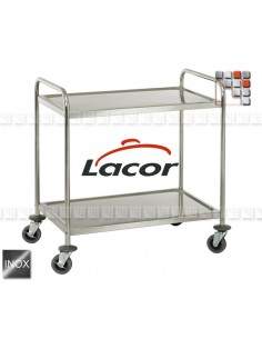Cart Service a la Plancha US95 L10-66249 LACOR® Wood & stainless steel Outdoor Trolley