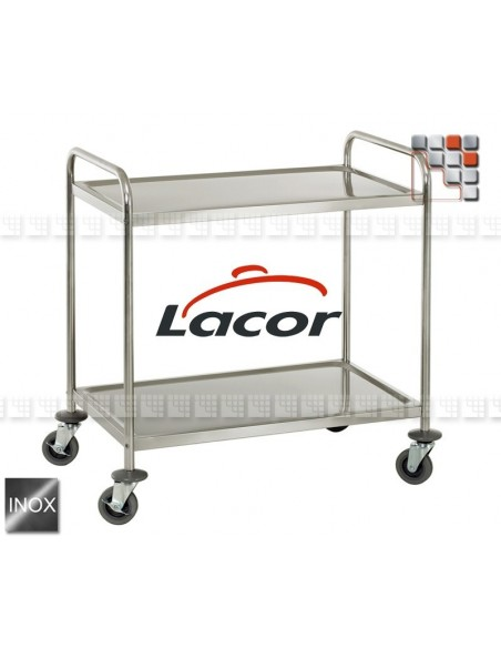 Cart Service a la Plancha US95 404PXACR95 Lacor® Wood & stainless steel Outdoor Trolley