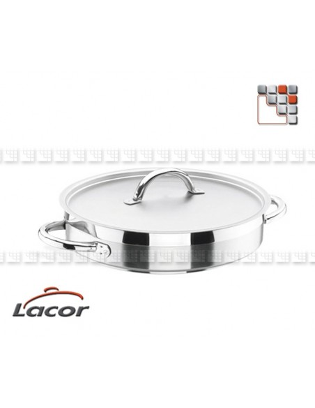 Plat Profond Aluminium LACOR L10-206 LACOR® Poeles, Sartenes, Cazuelas y Tapas Garcima