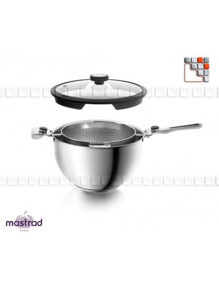 Casserole & Passoire Combo 24 cm - Balancia de MASTRAD 502ACF61900 Mastrad® Cuisson