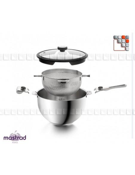 Saucepan & Strainer Combo 24 cm - Balancia of MASTRAD M12-F61900 Mastrad® Cooking