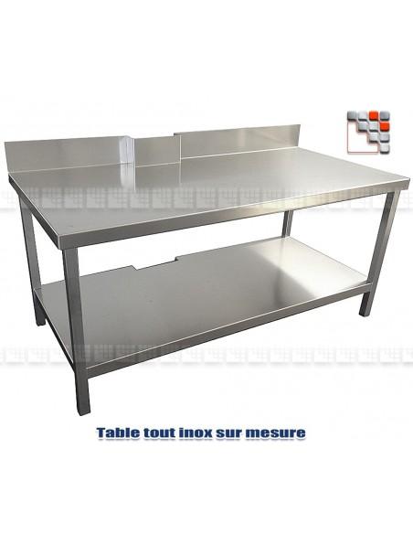 Table desserte sur mesure tout inox for Plateau inox sur mesure