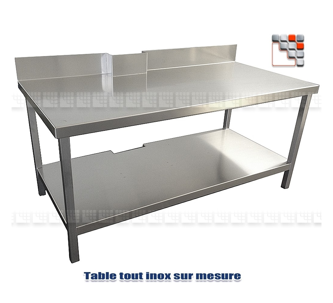 table basse tout inox. Black Bedroom Furniture Sets. Home Design Ideas