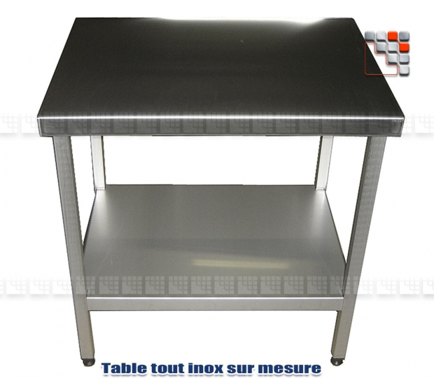table desserte sur mesure tout inox. Black Bedroom Furniture Sets. Home Design Ideas
