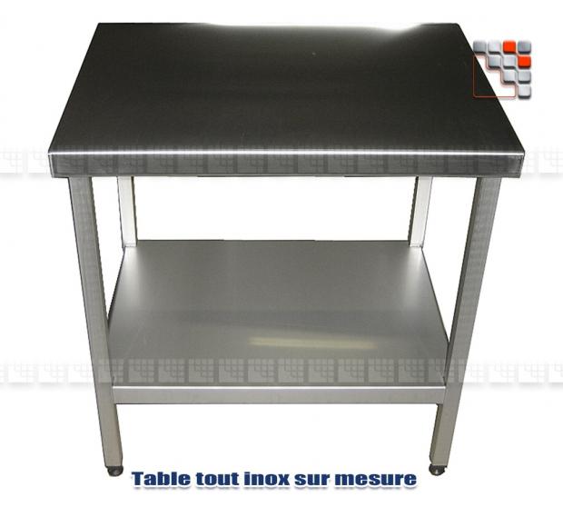 Table Inox sur Mesure 404TBI6050 A la Plancha® Dessertes & Chariots Bois Inox