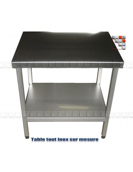 Table Stainless steel custom A17-TBI6050 A la Plancha® Wood & stainless steel Outdoor Trolley