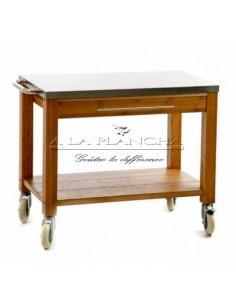 chariots isothermes tout inox pour la conservation et de distribution des plats a la plancha. Black Bedroom Furniture Sets. Home Design Ideas