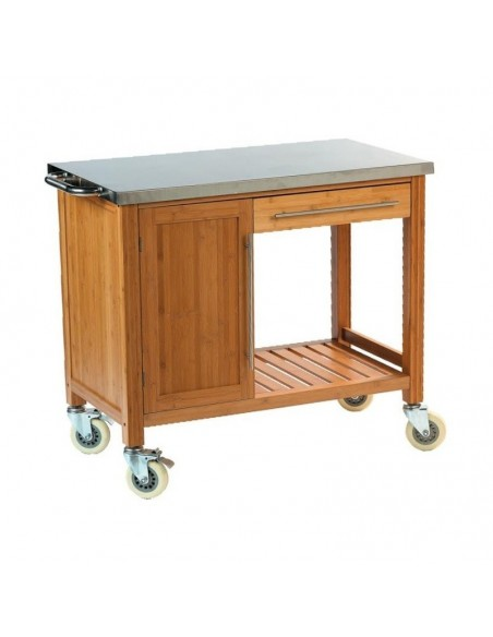 Trolley Plancha Bamboo DM Creation  dm CREATION® Wood & stainless steel Outdoor Trolley