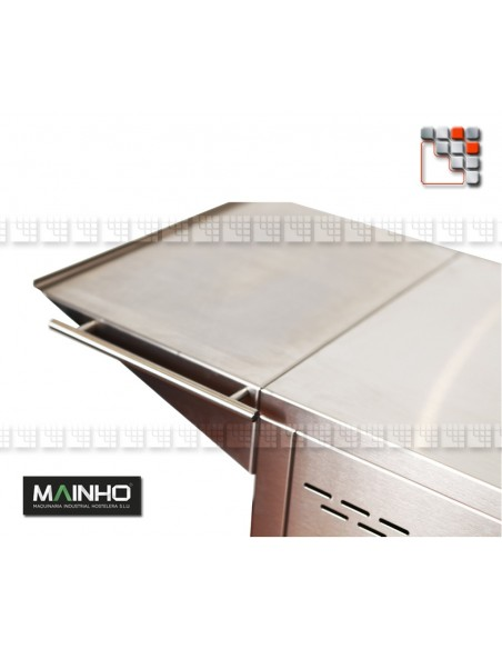 Pack Plancha Chariot Rollent NC-60TB Mainho + Offre FATBOY M04-CNE80NC60TB A la Plancha® Planchas MAINHO NOVO CROM SNACK