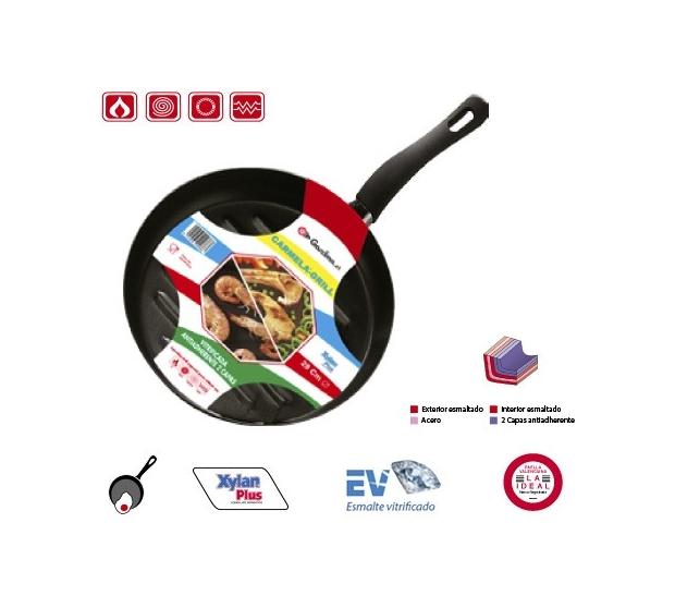 Poele Grill D28 Emaillee Garcima G05-20038 GARCIMA® LaIdeal Poeles, Sartenes, Cazuelas y Tapas Garcima