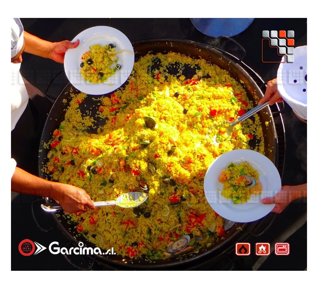 Plat paella geante d130 garcima la ideal for Plat a paella gifi