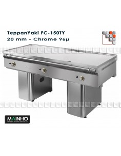 Teppanyaki FC-150/7 TY Mainho FC-150/7 TY MAINHO® Fry-Tops MAINHO EURO-CROM Snack